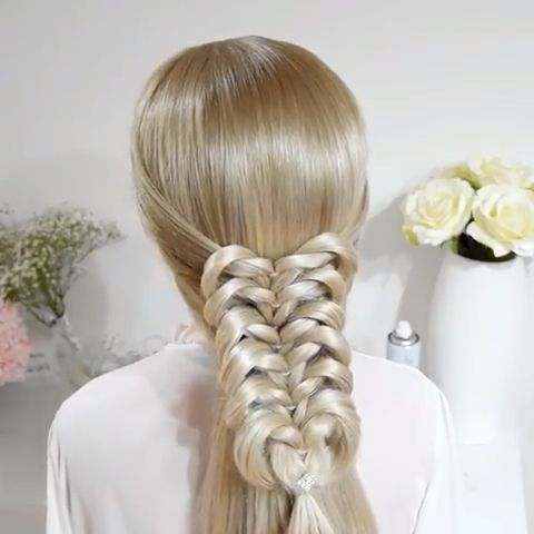 Easy Knotted Braid Tutorial   Long Hair Styles, Braided In Latest Folded Braided Updo Hairstyles (View 8 of 25)