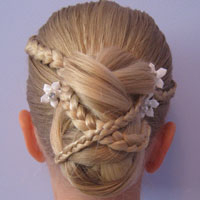 Easy Rolled Braid Updo – Babes In Hairland For Current Folded Braided Updo Hairstyles (View 20 of 25)
