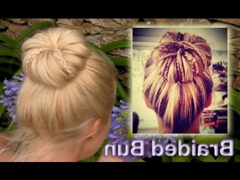 Elegant Braided Updo Hairstyle For Everyday Rolled Bun For Pertaining To Current Folded Braided Updo Hairstyles (View 12 of 25)