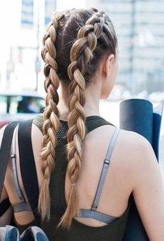 Enchanting Double Dutch Braids #Braidedponytail Enchanting With Regard To Most Recent Quad Dutch Braids Hairstyles (View 11 of 25)