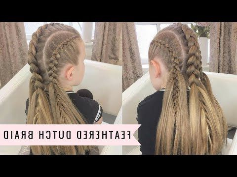 Feathered Dutch Braidsweethearts Hair – Youtube Intended For Most Popular Dutch Heart Braid Hairstyles (View 19 of 25)
