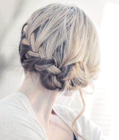 French Braids Hairstyles Within Newest Folded Braided Updo Hairstyles (View 2 of 25)