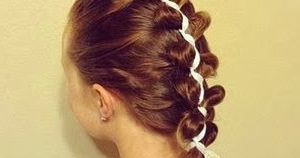 French (Dutch) Loony Ribbon Braid, Cute Hairstyles Regarding Most Up To Date Dutch Heart Braid Hairstyles (View 17 of 25)