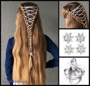 Hair Braids With Ribbon Plaits 15+ Ideas #Hair #Braids Throughout 2020 Folded Braided Updo Hairstyles (View 11 of 25)