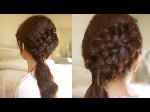 Hair Tutorial: Double Braided Sidedo For Medium To Long Pertaining To Most Recent Loose Double Braids Hairstyles (View 14 of 25)