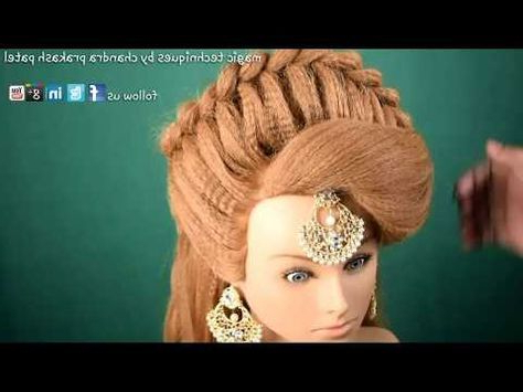 Hairstyle French Roll – Youtube | Engagement Hairstyles Inside Current Rolled Roses Braids Hairstyles (View 5 of 25)