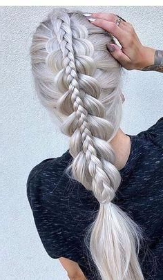 Hairstyles (82) #Curlyhairtrends | Dutch Braid Hairstyles Throughout Best And Newest Quad Dutch Braids Hairstyles (View 13 of 25)