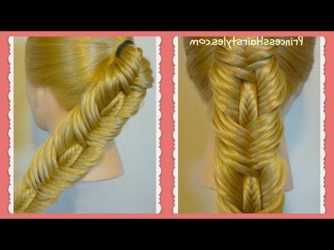 Hairstyles For Girls – Princess Hairstyles: Double Intended For Best And Newest Double Braided Single Fishtail Braid Hairstyles (View 23 of 25)