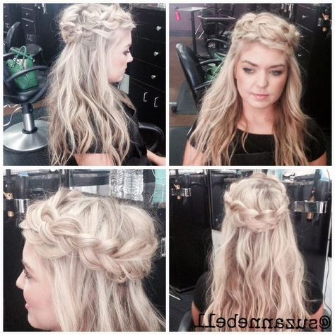 Half Up/Half Down Braided Hairstyle Dutch Braid #Braid # Regarding Best And Newest Loose Highlighted Half Do Hairstyles (View 22 of 25)