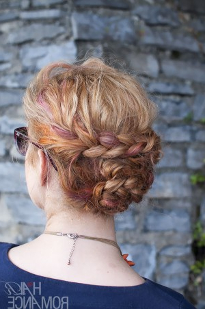 Holiday Hair – Braided Updo Tutorial – Hair Romance In Best And Newest Folded Braided Updo Hairstyles (View 6 of 25)