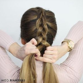 How To Do A Dutch Braid: Hair Tutorial For Beginners Intended For Current Dutch Heart Braid Hairstyles (View 12 of 25)