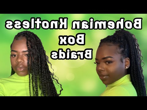 How To Do Knotless Bohemian Box Braids  Protective With Most Current Boho Braided Half Do Hairstyles (View 23 of 25)