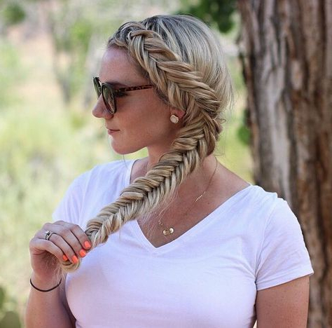 How To: Dutch Fishtail Braid   Fishtail Braid Hairstyles Inside Most Popular Five Dutch Braid Ponytail Hairstyles (View 9 of 25)