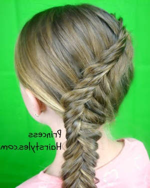 Inside Out Fishtail Braid Tutorial   Hairstyles For Girls Regarding 2020 Five Dutch Braid Ponytail Hairstyles (View 21 of 25)