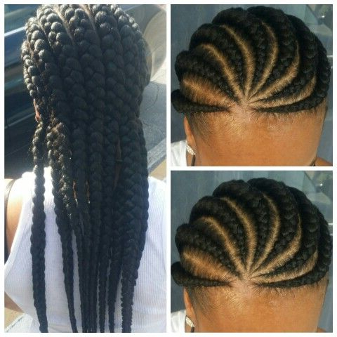 Knot Less Cornrows | Hair Life, Hair Styles, Braid Shops Within Most Popular Rope Half Braid Hairstyles (View 18 of 25)