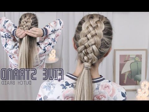 #L39Écolecollège #Lcolecollge #Coiffure #Versions # Pertaining To Newest Quad Dutch Braids Hairstyles (View 21 of 25)