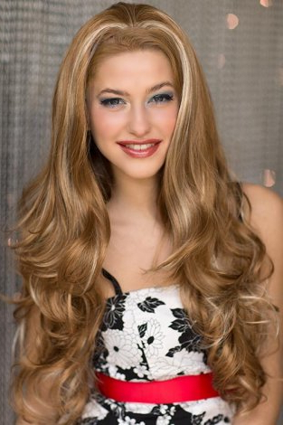 Light Brown Half Wig With Blonde Highlights & Loose Waves Within 2020 Loose Highlighted Half Do Hairstyles (View 12 of 25)