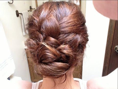 Loose Braided Bun Hair Tutorial – Youtube Regarding Best And Newest Loose Historical Braid Hairstyles (View 18 of 25)