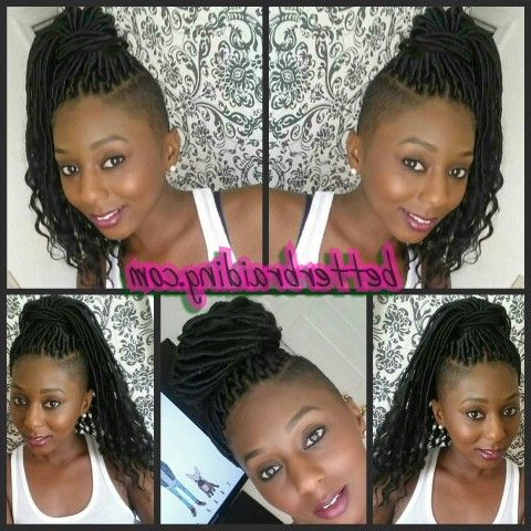 Loose End Faux Locks, Faux Locs   Braids With Shaved Sides Within Latest Loose Double Braids Hairstyles (View 20 of 25)