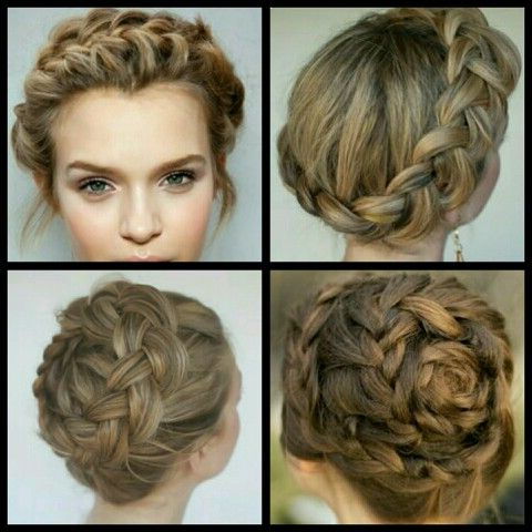 Love The French/Milkmaid Braid Crown   Milkmaid Braid Throughout Most Recent Braided Crown Rose Hairstyles (View 9 of 25)