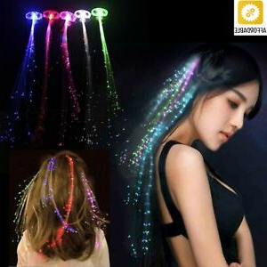Luminescent Hairpin Led Flashing Hair Braid Glowing With Most Current Light Pink Semi Crown Braid Hairstyles (View 24 of 25)