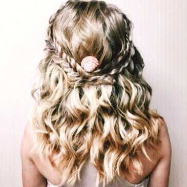 Mermaid Hairstyle With Two Fishtails And Two Rope Braids Within Most Recent Rope Half Braid Hairstyles (View 20 of 25)
