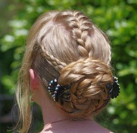 Mohawk French Braid With Swirly Braided Bun   Long Hair Intended For Current Defined French Braid Hairstyles (View 17 of 25)
