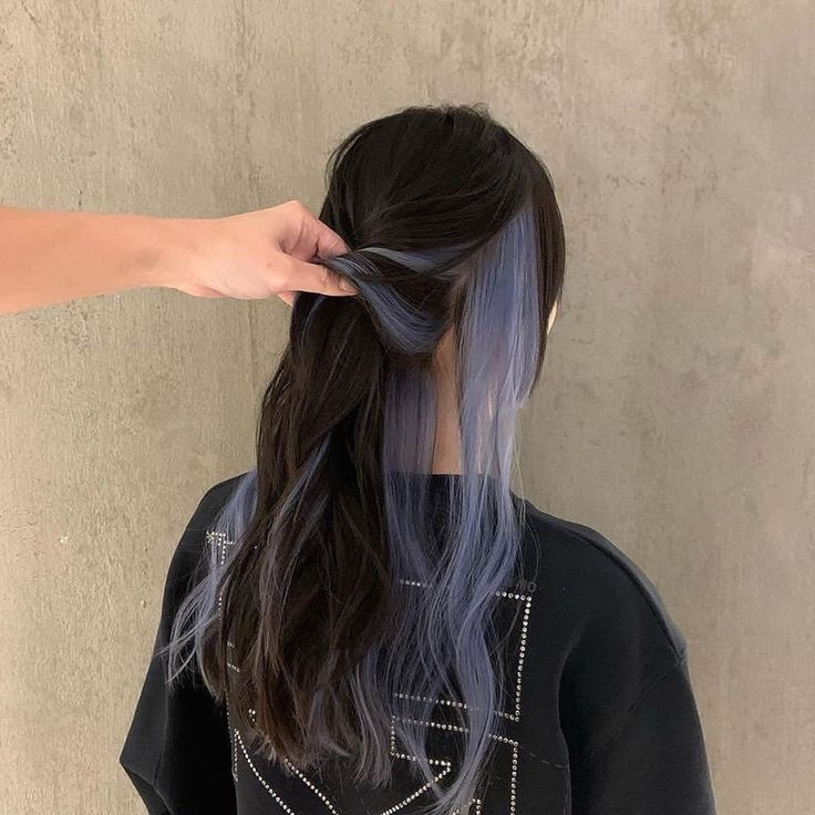 Mood ??? | Hair Color Underneath, Hair Color Streaks, Hair Throughout 2020 Loose Highlighted Half Do Hairstyles (View 3 of 25)