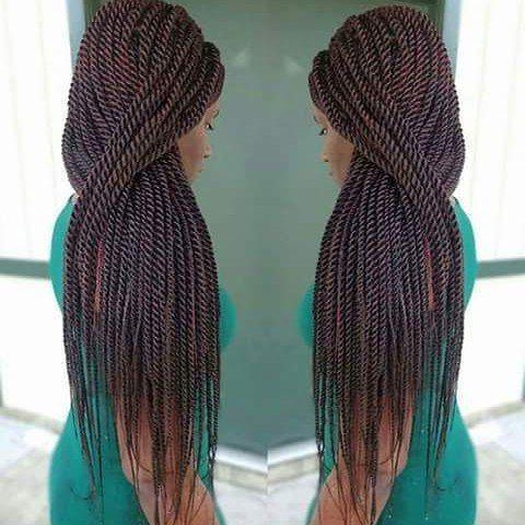 Perfect Ropes Via @Braidsbyguvia #Braids #Braidgirl # Pertaining To Newest Rope Half Braid Hairstyles (View 21 of 25)
