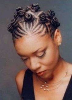 Pin On Loc, Knot, Twist & Row (Hair) Within Most Recent Braided Top Knot Hairstyles (View 19 of 25)
