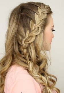 Pinerin Lupo On Sr Prom   French Braid Hairstyles Inside Best And Newest Defined French Braid Hairstyles (View 10 of 25)