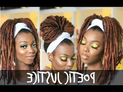 Poetic Justice Head Wrap Tutorial | For Braids, Twists With Regard To Current Head Wrap Braid Hairstyles (View 18 of 25)