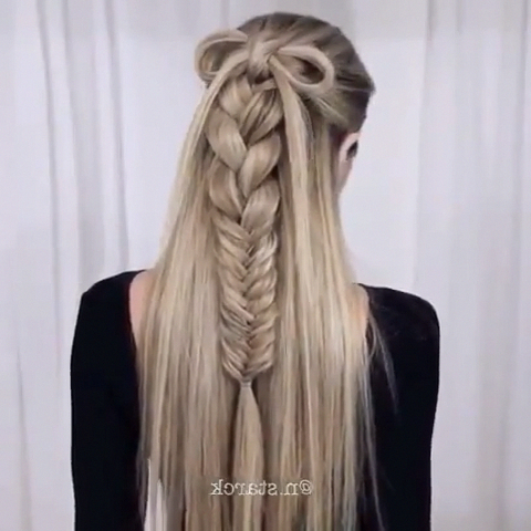 Rope Braid Hairstyles (20 Cute Ideas For 2019) In 2020 With Most Popular Rope And Braid Hairstyles (View 17 of 25)