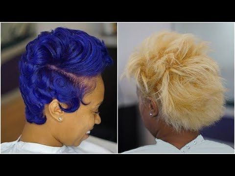 Semi Permanent Color And Wave Curls – Youtube | Waves Inside Most Popular Light Pink Semi Crown Braid Hairstyles (View 15 of 25)