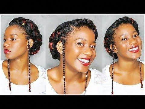 Simple Goddess Braid On Natural Hair Viv Hairtherapy # With Regard To Most Popular Greek Goddess Braid Hairstyles (View 23 of 25)
