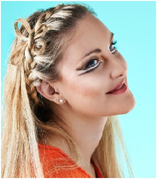 Simple Side Braided Hairstyle With Regard To Latest Pancaked Side Braid Hairstyles (View 13 of 25)