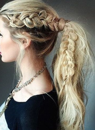The Braided Ponytail   Cool Braid Hairstyles, Long Hair With Regard To Most Recent Five Dutch Braid Ponytail Hairstyles (View 16 of 25)