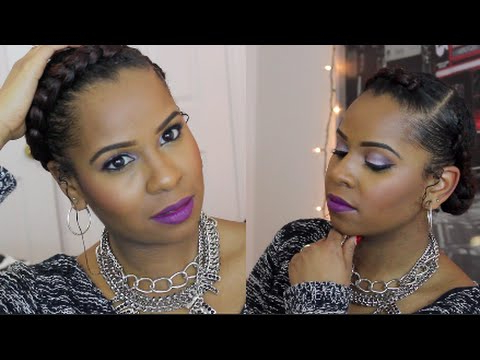 The Goddess Braid| Protective Style Natural Hair – Youtube With Most Current Greek Goddess Braid Hairstyles (View 7 of 25)