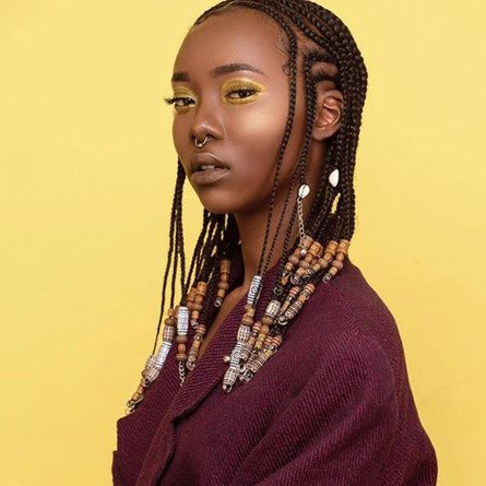 These Beaded Braid Hairstyles Will Leave You Mesmerized With Most Recently Head Wrap Braid Hairstyles (View 14 of 25)