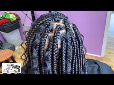 #Thesehands Braiding Studio   How To Do Jumbo Bohemian Box Within Best And Newest Boho Braided Half Do Hairstyles (View 14 of 25)