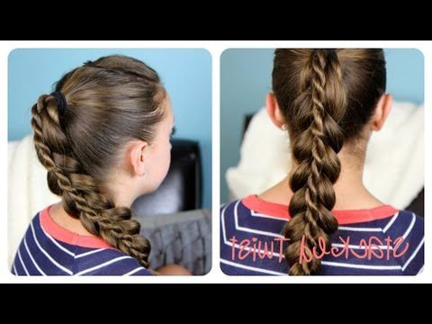 This Is Sooooo Cool   Twist Ponytail, Hair Styles, Cute With Current Knotted Braided Updo Hairstyles (View 22 of 25)