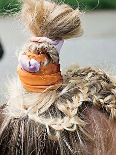 Tie Dye Knotted Headband   Braids, Fall Braids, Summer Intended For Most Current Knotted Braided Updo Hairstyles (View 2 of 25)