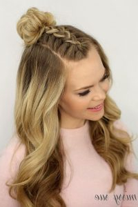 Trend Watch – Mohawk Braid Into Top Knot Half Up Intended For Most Up To Date Rope Half Braid Hairstyles (View 24 of 25)