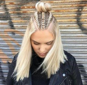 Trend Watch – Mohawk Braid Into Top Knot Half Up Pertaining To Latest Braided Top Knot Hairstyles (View 4 of 25)