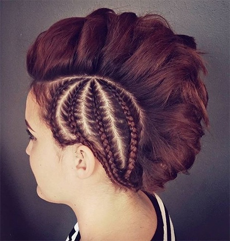 Try These Elegant Mohawk Hairstyles For Women At The Inside Latest Pouf Braided Mohawk Hairstyles (View 24 of 25)