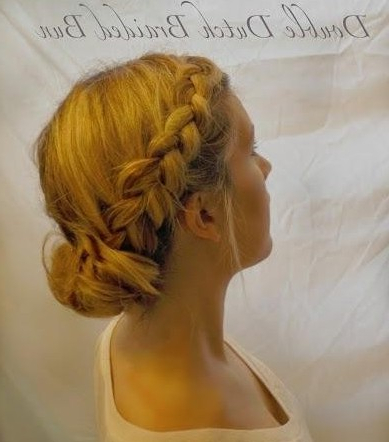 Updo Hairstyle Tutorial: Double Dutch Braided Bun Updos With Regard To Most Recent Loose Double Braids Hairstyles (View 6 of 25)