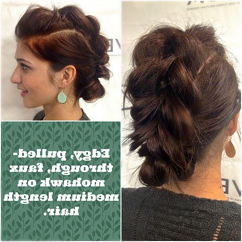 #Updo #Mohawk #Braid   Medium Length Hair Styles, Hair Pertaining To Most Popular Pouf Braided Mohawk Hairstyles (View 20 of 25)