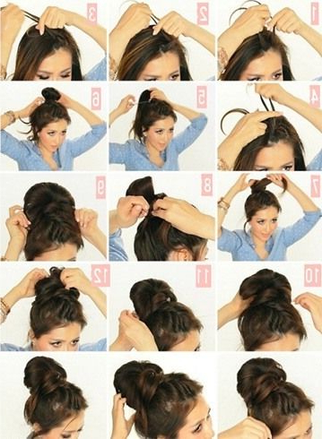 Various Styles To The Messy Top Knot For Short Hair   Hair Within Recent Braided Top Knot Hairstyles (View 22 of 25)