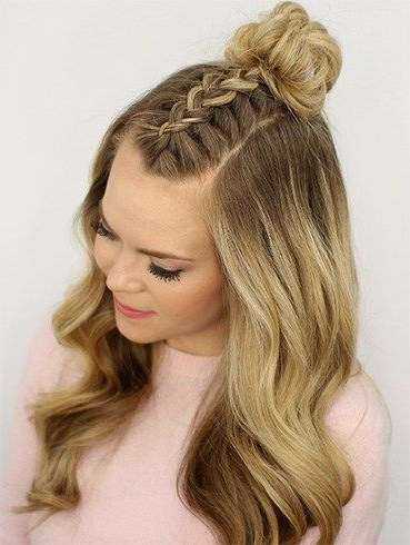Various Styles To The Messy Top Knot For Short Hair   Top Intended For Newest Knotted Braided Updo Hairstyles (View 14 of 25)