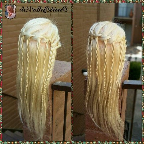 Waterfall Braid With Some Rope Twist! | Hair Styles In Most Recently Rope And Braid Hairstyles (View 15 of 25)